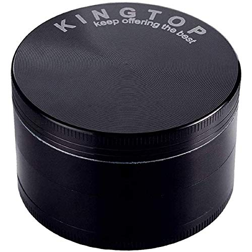 KINGTOP Herb Spice Grinder Large 3.0 Inch Black