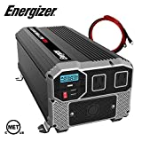 Energizer 4000 Watts Power Inverter 12V to 110V, Modified Sine Wave Car Inverter, DC to AC Converter with Dual 110 Volts AC Outlets and 2 USB Ports 2.4A ea - METLab Approved Under UL Std 458