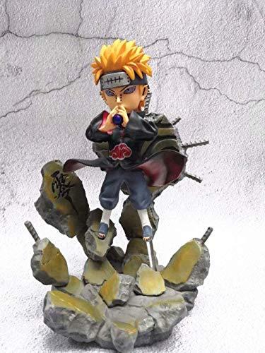 Anime Naruto The Six Path Akatsuki Leader GK Pain Deva Path 25cm Estatua PVC Anime Figura Figuras de acción Anime Modelo de Personaje