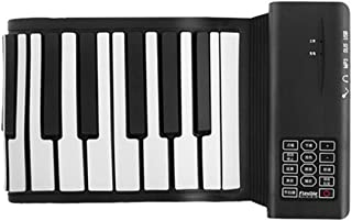 TOOYU 88-Keys Roll Up Piano,Upgraded Portable Rechargeable Electronic Hand Roll Piano With Environmental Silicone Piano Ke...