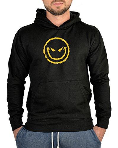 TITAGU Sweatshirt mit Kapuze - Hoodie Smiley Aufdruck: Bad Smiley - Halloween