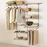 Rubbermaid Configurations 3H8800 3- to 6-Foot Deluxe Custom Closet Kit