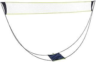 tragbares Badmintonnetz NUNGBE Tennisnetz einfach zu setzendes und langlebiges Volleyballnetz aus Nylon-Polyester Tennisnetz inklusive Halterung