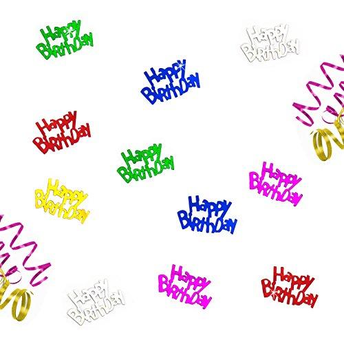Oblique-Unique® Happy Birthday buntes Geburtstag Tisch Konfetti mit Spiegeleffekt - über 150 Stück