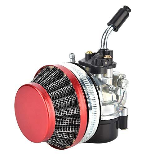 Filtro de aire, carburador de aleación de aluminio y kit de filtro de aire 49cc 50cc 80cc para 37cc 50cc 80cc Bicicleta de motor de 2 tiempos