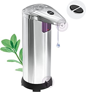 Automatic Soap Dispenser/ (2021 New) Touchless 3 Adjustable Levels Hand Sanitizer Dispenser for Liquid, Waterproof Base an...