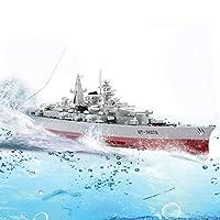 RCボート高速軍事モデルシリーズ戦艦1/360 RC軍艦クルーザーシミュレーション戦艦ビスマルクのおもちゃ屋外水スピードボートリモートコントロールおもちゃ