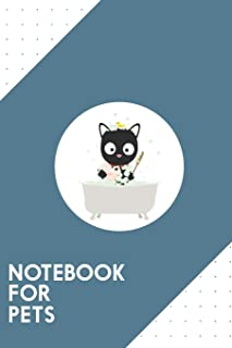 Notebook for Pets: Dotted Journal with Bathing Cat in a bathtub Design - Cool Gift for a friend or family who loves kitten...