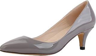 15096cd2c122 WanYang Femme Chaussures Elegant Ladies Low Heel Shallow Mouth Femmes  Bureau Work Talons Pointue Chaussures