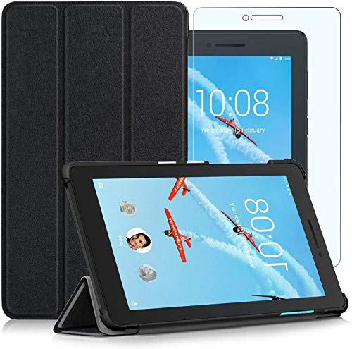 BNBUKLTD - Funda para Lenovo Tab E7 Smart Case y protector de pantalla de cristal (7,0')
