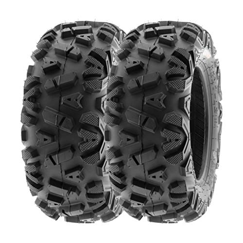 SunF 25x11-12 25x11x12 ATV UTV Tires 6 PR Tubeless A033 POWER I [Set of 2]