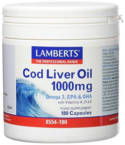 Lamberts Aceite 1000 mg, 180 capsulas