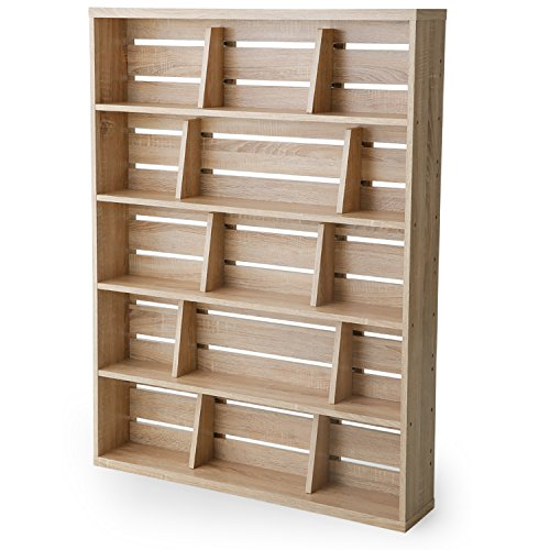 LOWYA (ロウヤ) 本棚 マンガ収納 スライド&ディスプレイ ブックエンド 木製 リアル木目 幅90 上段 単品 ...