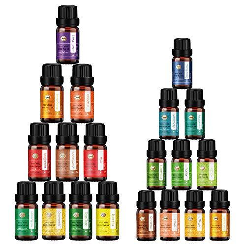 ANEAR Ätherische Öle - Geschenkbox (10 x 10 ml, 10 x 5ml) 20 Duft für Aromatherapie Massage Körperentspannung, Lavendel, Teebaum, Rose, Zitronengras, Bergamotte, Eukalyptus, Sandelholz ect