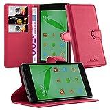 Cadorabo Hülle für OnePlus ONE 2 in Karmin ROT - Handyhülle mit Magnetverschluss, Standfunktion & Kartenfach - Hülle Cover Schutzhülle Etui Tasche Book Klapp Style