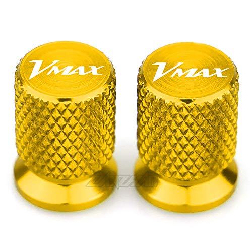 NADAENTA 2 Stück CNC-Aluminium Motorräder Ventilkappen Reifen Luftventilkappen für Yamaha VMAX 2012-2016 2017 2018 2019 2020 schützen Ihren Ventilschaft