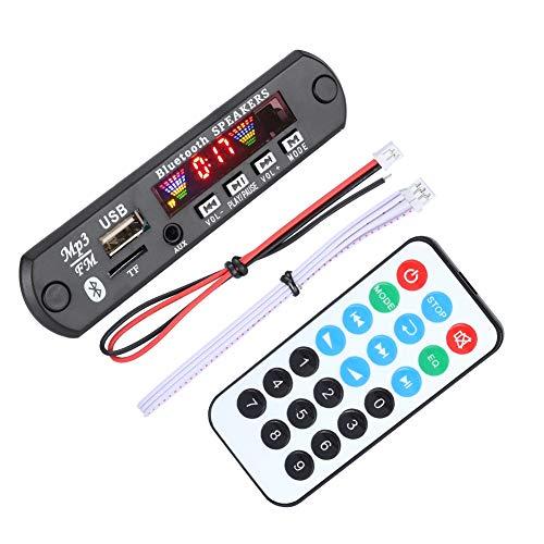 Bewinner Scheda di decodifica WMA Bluetooth TFM01BT + U-DX Schermo Bluetooth 5.0 4 Colori FM Modulo di Scheda di decodifica Ape FLAC Supporto AUX, FM, USB, TF, Supporto MP3 / WMA/WAV/FLAC/Ape