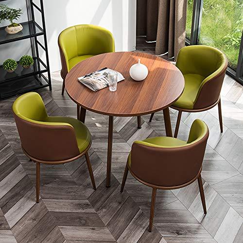 JU FU Tisch- und Stuhlkombination, einfaches Freizeitgeschäft kleine runde Tisch Haupthofdekorationen Balkon Tisch und Stuhl-Kombination, 15 Farben zur Auswahl