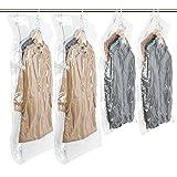 TAILI 圧縮袋 衣類圧縮袋 吊るせる圧縮袋 コート収納袋 掃除機対応 省スペース 防湿気 防埃 防虫 カビ ダニ 抗菌効果 繰り返し 利用可能