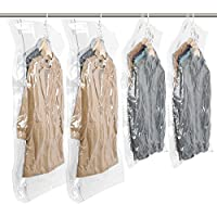 4-Set Taili Hanging Vacuum Space Saver Bags for Clothes