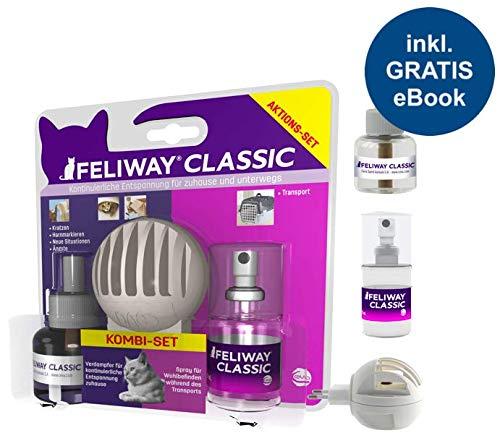 FELIWAY Classic Kombi-Set (Zerstäuber, Nachfüllfakon + Spray 20ml) inkl. Katzen-Wohlfühlguide von Tierglück24