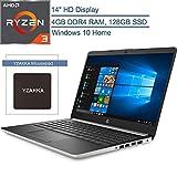 2020 HP 14 14' Micro-Edge Laptop Computer, AMD Ryzen 3 3200U up to 3.5GHz (Beats i5-7200U), 4GB DDR4 RAM, 128GB SSD, 802.11AC WiFi, Bluetooth 4.2, HDMI, USB Type-C, Windows 10 Home, YZAKKA Mouse Pad