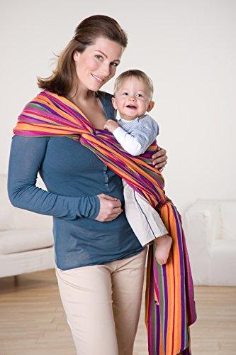 AMAZONAS Babytragetuch Carry Sling Lollipop 510 cm 0-3 Jahre bis 15 kg buntgestreift - 2