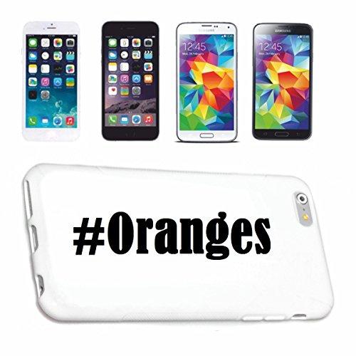 Reifen-Markt Hard Cover - Funda para teléfono móvil Compatible con Samsung S7 Galaxy Hashtag #Oranges en Red Social Diseño