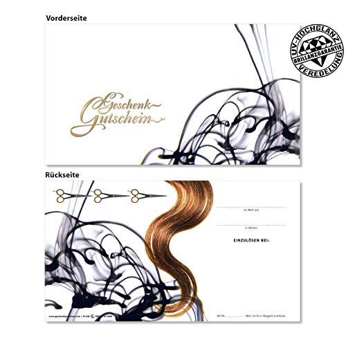 10 Gutscheinkarten Geschenkgutscheine. Gutscheine für Friseur Haarstudio. Friseurgutschein. Für Kunden. K1246 geschenkgutschein gmbh