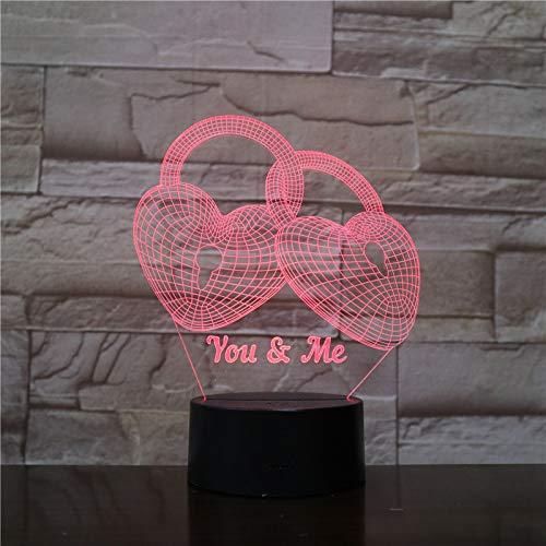 wangZJ3D-Lampe/Vase/Kristall/Ballon/Briefkasten/Fußball/7-farbiges Licht für Mädchen/beleuchtende Kinderlampe/Briefkasten auf ABS-Basis