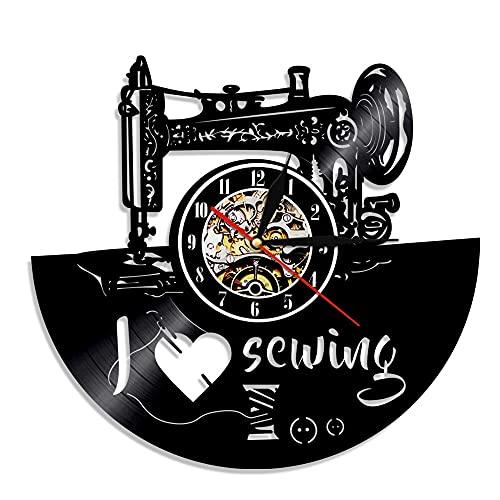 Usmnxo Reloj de Pared con Registro de gramófono Reloj de Pared de Vinilo Reloj de Pared nostálgico Retro Creativo Reloj de Pared con lámpara 12 Pulgadas (30 cm)