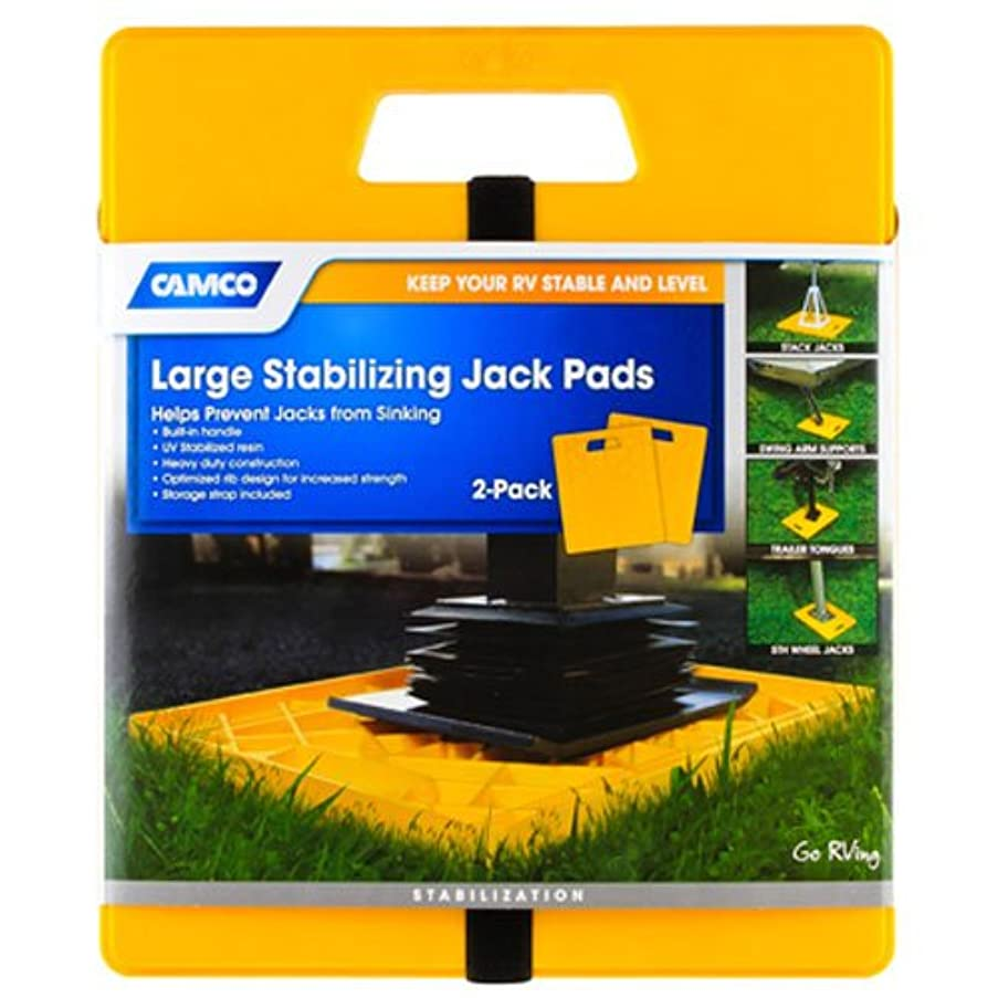 Camco Large 44541 Stabilizing Jack Pads, 2 Pack