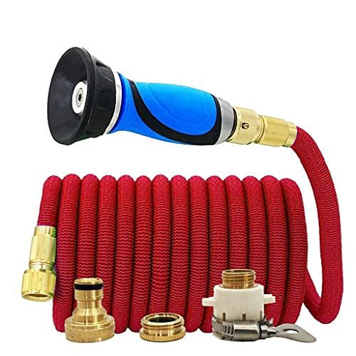 UOEIDOSB Tubo Da Giardino Espandibile Tubo Per Autolavaggio Magico Ad Alta Pressione Sistema Di Irrigazione A Goccia Con Ugello Per Irrigazione Vegetale (Color : 25ft)