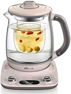 Bear YSH-C18R1 Health- Care Beverage Tea Maker and Kettle, Durable 316 Stainless Steel & Glass Brew Cooker Master,8-in-1 P...