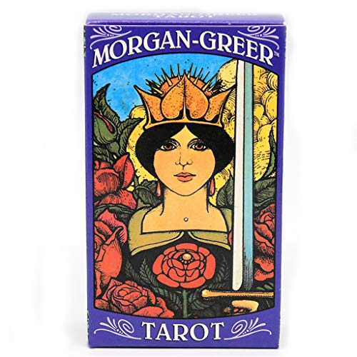 Chou Morgan Greer Tarot Juego 78 Cartas, Encuadre de Inglés, 10 * 6cm