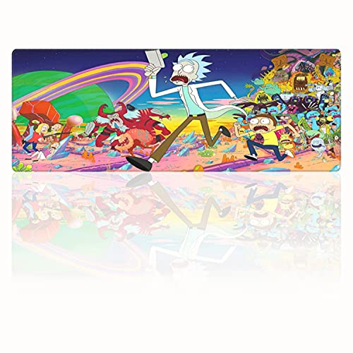 Rick and Morty Large Mouse Pad Non Slip Rubber Base Gaming Mousepad for Computer Home Office Long Mouse Mat 15.8x29.5in