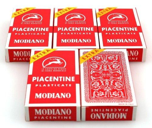 Ludomax Fünferpaket Piacentine Spielkarten, SUPER von Modiano - Scopa / Briscola