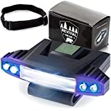 Hat Light Rechargeable LED Headlamp: Head Lamps Strap Clip On Flashlight Headlamps For Hardhat & Hats For Camping, Running, Working Hard Hats, Cycling, Walking, Hiking