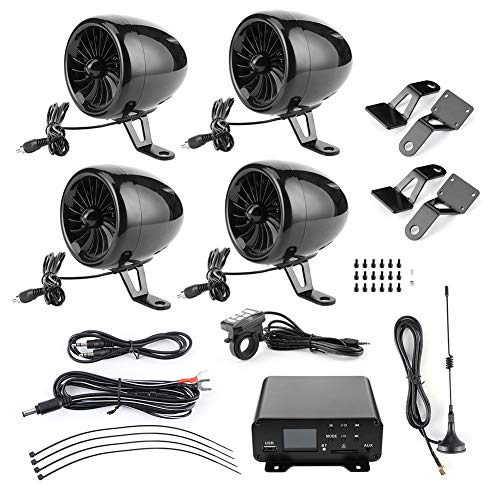 Bluetooth-luidsprekers, 1000W Bluetooth-versterker Waterdichte audio-stereo 4 luidsprekers MP3 FM-radiosysteem voor motorfietsen/ATV/UTV/boot