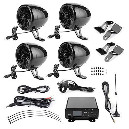 Altavoz de motocicleta de 1000 W, amplificador Bluetooth, Audio impermeable, estéreo, 4 altavoces, sistema de radio FM MP3 para motocicletas/ATV/UTV/barco