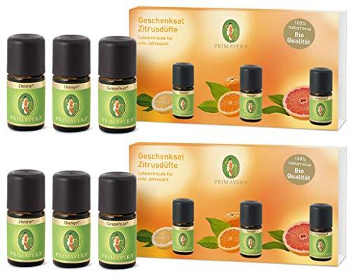 Primavera Geschenkset Zitrusdüfte - Grapefruit Zitrone Orange … (2 Sets)