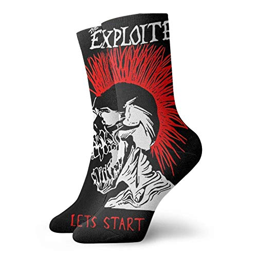 Yuanmeiju calcetines de punto The Explo Ited Lets Start A War Fashion Printed Sports Fitness With Comfortable Medium Stockings