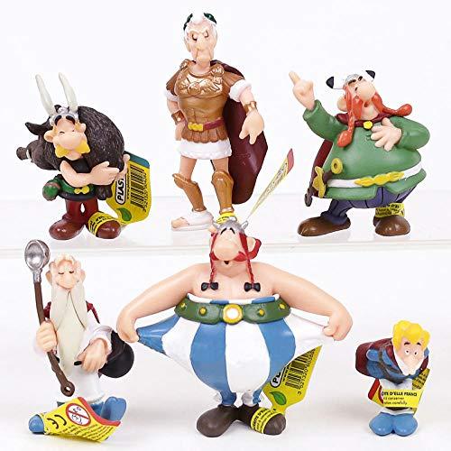 Mautesny Classique France Dessin animé Les Aventures d astérix Figurines PVC Jouets Enfants Enfants Cadeaux 6 pièces/Ensemble