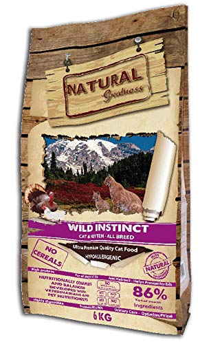 Natural Greatness Pienso seco para Gatos Receta Wild Instinct. Ultra Premium - Cat & Kiiten - Todas Las Razas. 6 kg