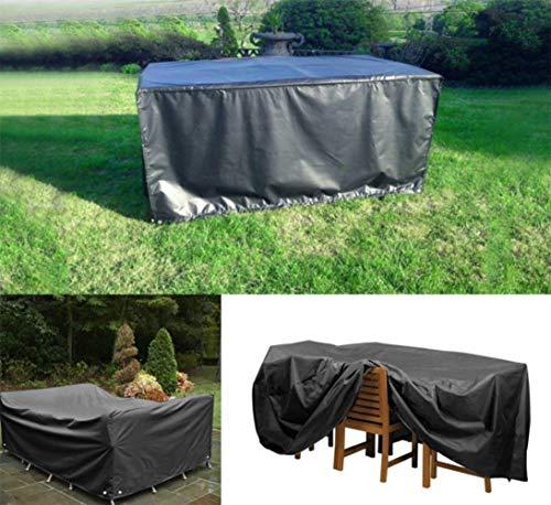 LHR Lona impermeable resistente al agua, resistente 420D Oxford funda para cubos, patio, exterior (tamaño: 180 x 135 x 90 cm)
