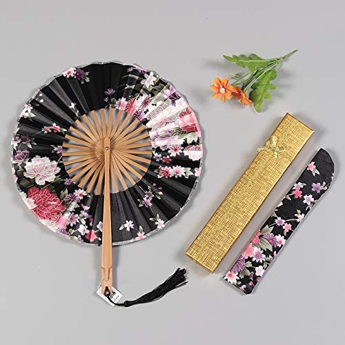 Yuzhijie Product Classic Japanese Antique Cherry Silk Group Fan Portab Classical