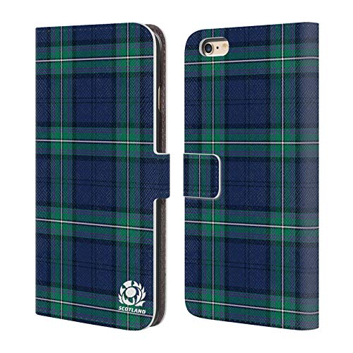 Head Case Designs Ufficiale Scotland Rugby Scozzese Logo 2 Cover in Pelle a Portafoglio Compatibile con Apple iPhone 6 Plus/iPhone 6s Plus