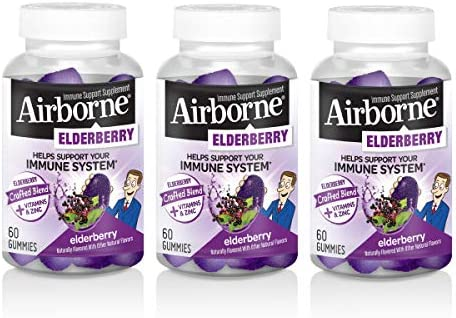 Elderberry Max Quality inspection 87% OFF + Vitamins Zinc Crafted Gummies Blend 60 Airborne