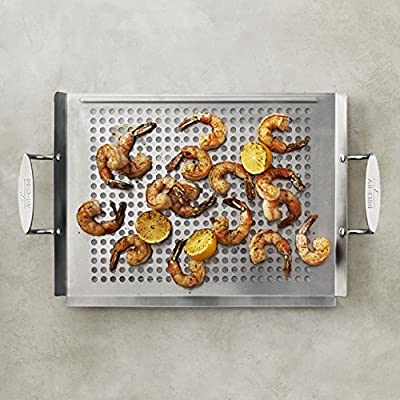 """All-Clad Stainless-Steel Outdoor 16 1/2"""" x 12"""" Griddle"""