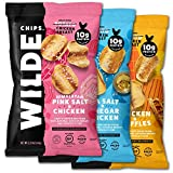 fried chicken chips - Chicken Chip Variety by Wilde Chips, Himalayan Pink Salt, Sea Salt and Vinegar, Chicken and Waffles, 2.25oz Bag (3 Count)